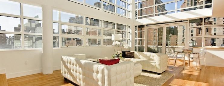 nyc loft apartments. Black Bedroom Furniture Sets. Home Design Ideas